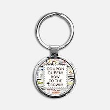 COUPON QUEEN Round Keychain