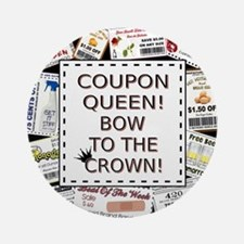 COUPON QUEEN Round Ornament