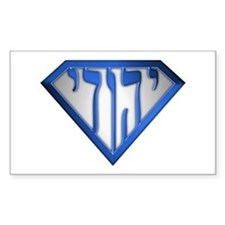 Super Jew(blue/white) Rectangle Decal