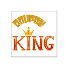 "COUPON KING Square Sticker 3"" x 3"""
