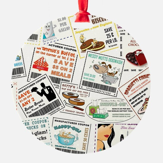 SCATTERED COUPONS Ornament