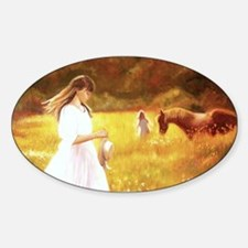 Horse in a field Decal