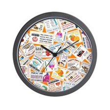 SCATTERED COUPONS Wall Clock
