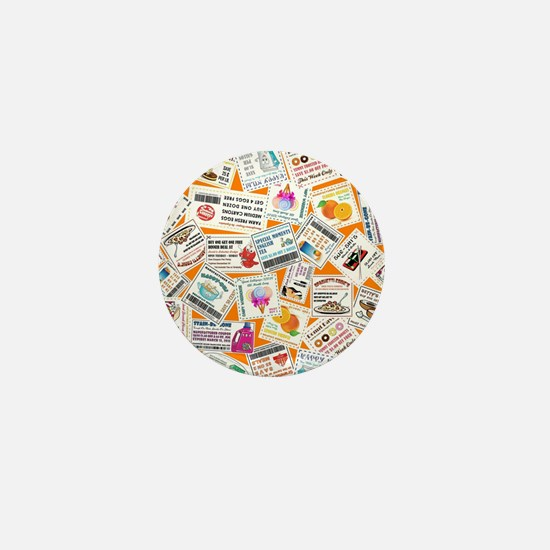 SCATTERED COUPONS Mini Button