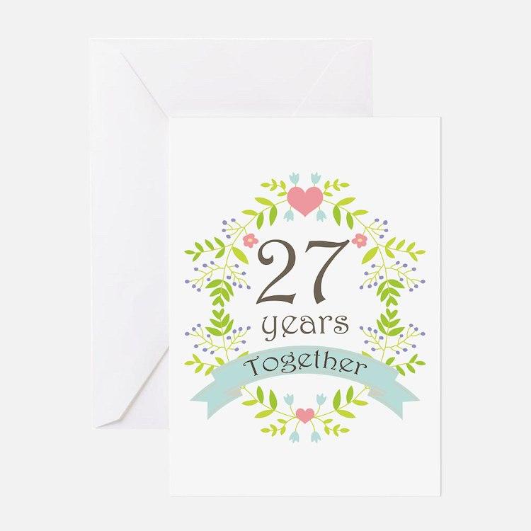 Wedding Anniversary Gifts 27th Year : Anniversary 27th Wedding Anniversary Greeting Cards Card Ideas ...
