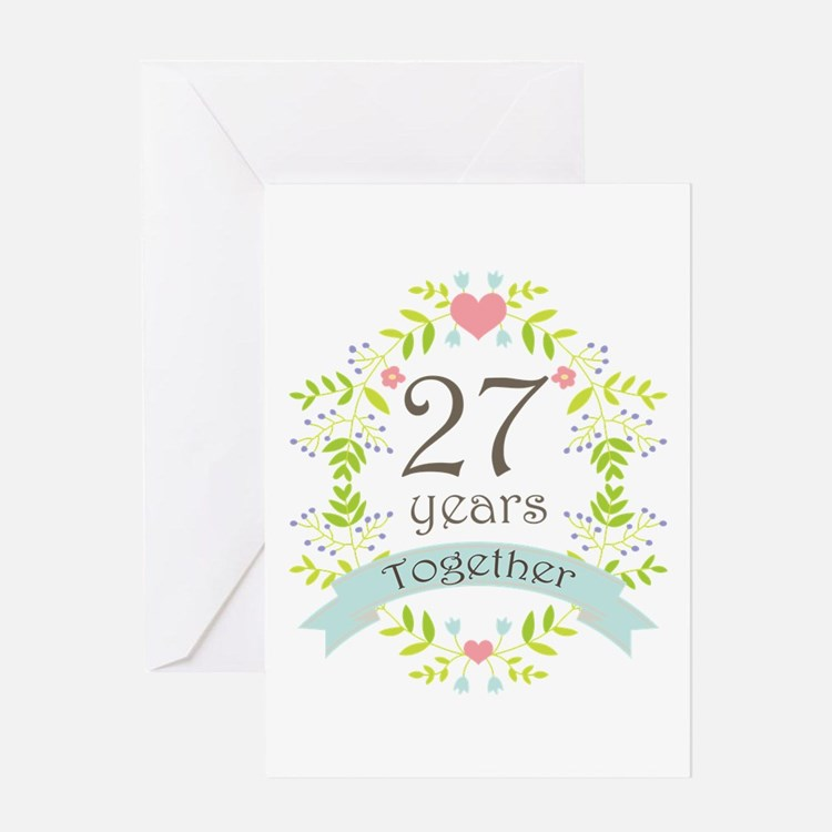 Anniversary 27th Wedding Anniversary Greeting Cards Card Ideas ...