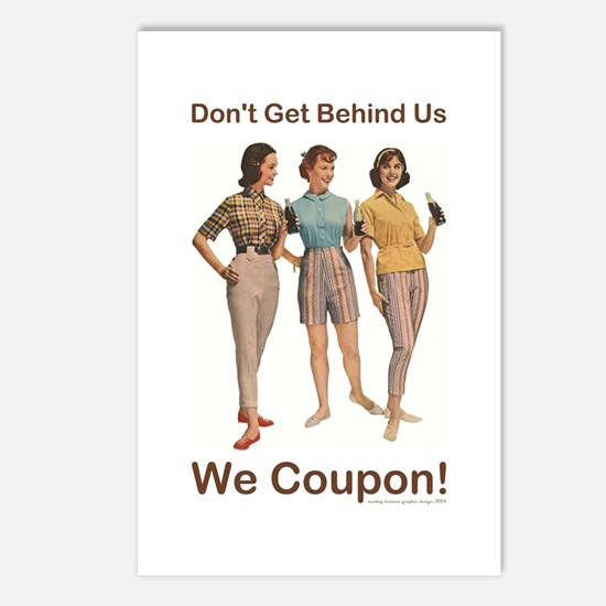 DON'T GET BEHIND US... Postcards (Package of 8)