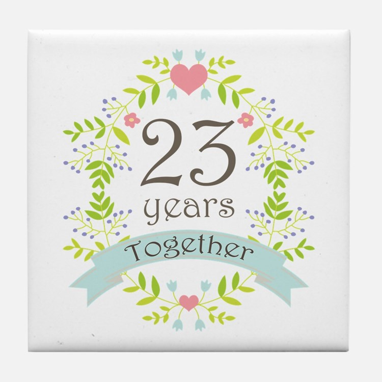 23Rd Wedding Anniversary 23rd Wedding Anniversary Coasters Cork ...