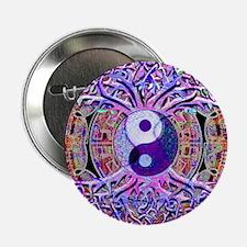 """Yin Yang Tree of Life 2.25"""" Button"""