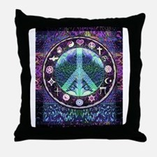 World Religions Peace Throw Pillow