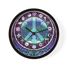 World Religions Peace Wall Clock