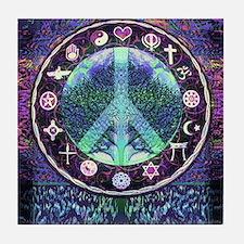 World Religions Peace Tile Coaster