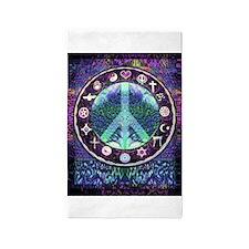 World Religions Peace 3'x5' Area Rug