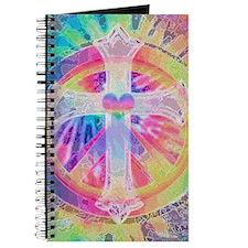 Tye Dye Cross with Heart Journal