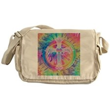 Tye Dye Cross with Heart Messenger Bag