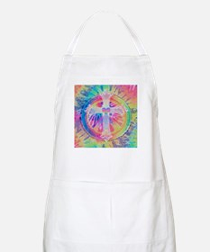 Tye Dye Cross with Heart Apron