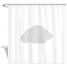Grey Cloud Shower Curtain