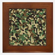 Woodland Camouflage Framed Tile