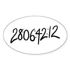 28:06:41:12 donnie darko numbers Oval Decal