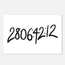 28:06:41:12 donnie darko numbers Postcards (Packag