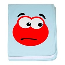Confused Red Blob baby blanket