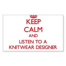 Keep Calm and Listen to a Knitwear Designer Sticke