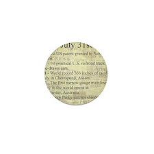 July 31st Mini Button