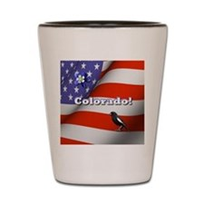 Colorado with American Flag Shot Glass