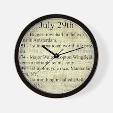 July 29th Wall Clock