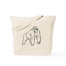 Gorilla Drawing Tote Bag
