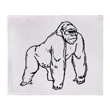 Gorilla Drawing Throw Blanket