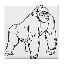 Gorilla Drawing Tile Coaster