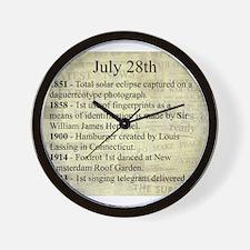 July 28th Wall Clock