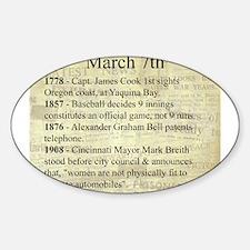 March 7th Sticker (Oval)
