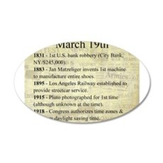 March 19th 20x12 Oval Wall Decal