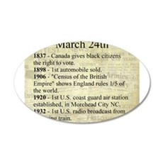 March 24th Wall Decal