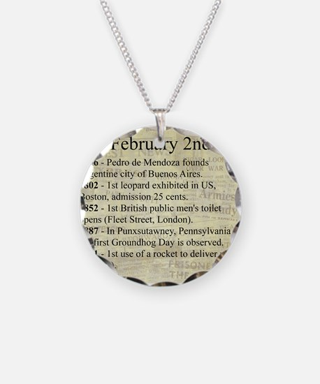 February 2nd Necklace Circle Charm