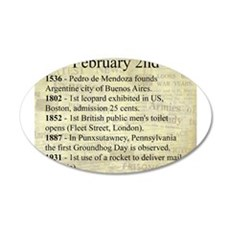February 2nd 35x21 Oval Wall Decal