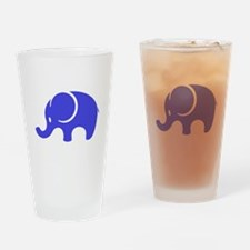 Blue Elephant Drinking Glass