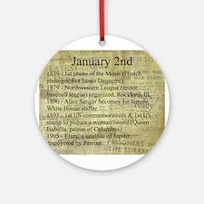 January 2nd Ornament (Round)