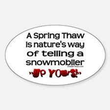 A Spring Thaw Oval Decal