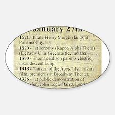January 27th Sticker (Oval)