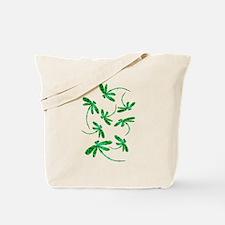 Dragonflies Neon Green Tote Bag