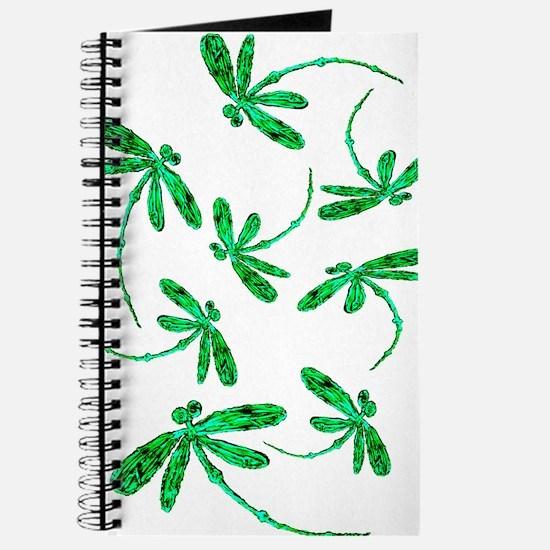 Dragonflies Neon Green Journal
