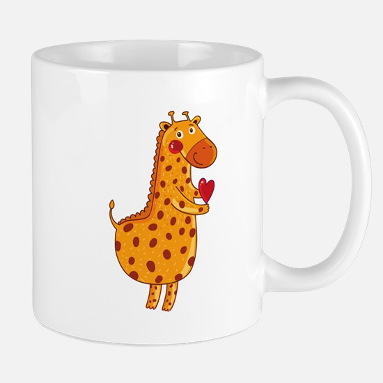 Valentines Day Giraffe Mugs
