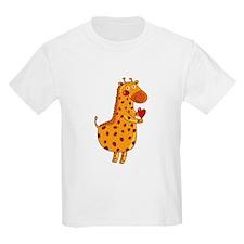 Valentines Day Giraffe T-Shirt