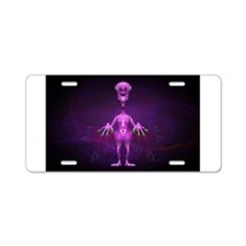 Fun Pink Alien Telepathic Power Aluminum License P
