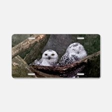 Two Owls Aluminum License Plate