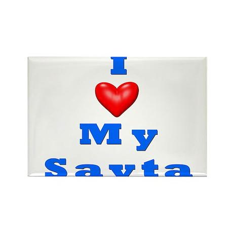I Love My Savta Rectangle Magnet