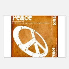 Orange Peace Postcards (Package of 8)